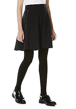 F&F School Soft Touch Skater Skirt - Black