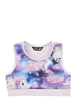 F&F Active Unicorn Crop Top - Lilac