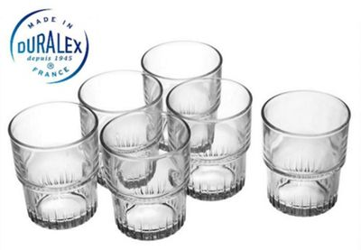 Duralex Empilable Set of 6 Glass Tumblers, 160ml