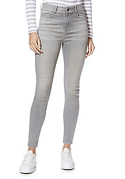 F&F Contour Push-Up High Rise Skinny Jeans - Grey