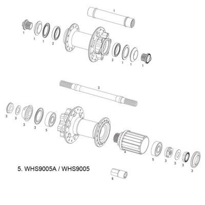 SRAM Bearings for Rise 40/X9 Hub Rear (2x 6000) (2 pcs)