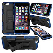 Orzly® Iphone 6 & 6S Rugged Shock Proof Heavy Duty Armor Tough Hard Case - Blue