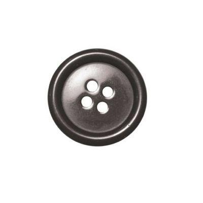Hemline Four Hole Dark Grey Buttons 22.5mm 4pk