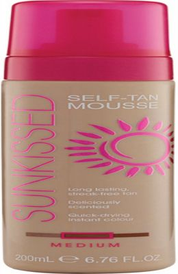 Sunkissed Self Tan Mousse 200ml - Medium