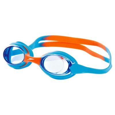 Speedo Junior Skoogle Flexifit Swimming Goggles, Blue/Orange