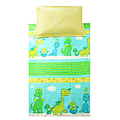 100% Cotton Cot Bed Duvet Cover Sets - Happy Dino