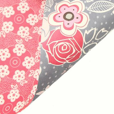 Rosehip Gift Wrap - Double Sided Pink/Grey