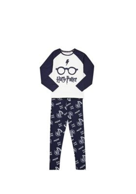 Warner Bros. Harry Potter Pyjamas Cream/Navy 6-7 years