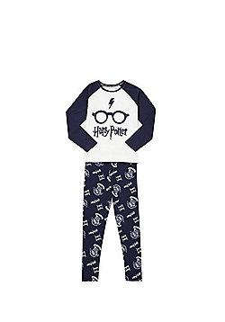 Warner Bros. Harry Potter Pyjamas - Cream & Navy