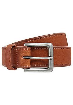 F&F Chamfered Edge Leather Belt - Tan