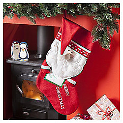 Santa Christmas Stocking With Photo Frame