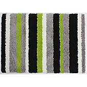 Nordic Channel Lime Green/Grey Rug - 80X150cm