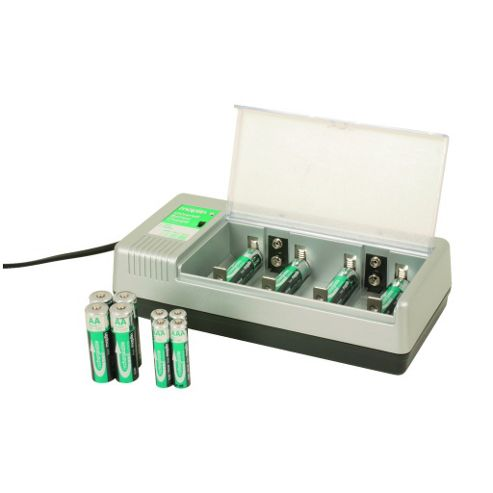 Universal Charger with 12 NiMH Batteries