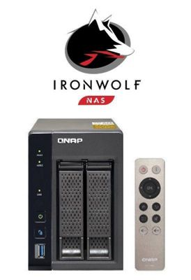 QNAP TS-253A-4G/8TB-IronWolf 2-Bay 8TB(2x4TB Seagate IronWolf) Network Attached Storage Solution