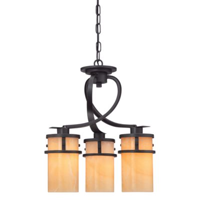 Imperial Bronze 3lt Dinette Chandelier - 3 x 100W E27