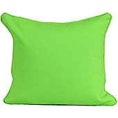 Homescapes Cotton Plain Green Scatter Cushion, 30 x 30 cm