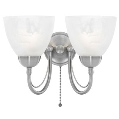 Litecraft Roma 2 light wall light Satin Nickel