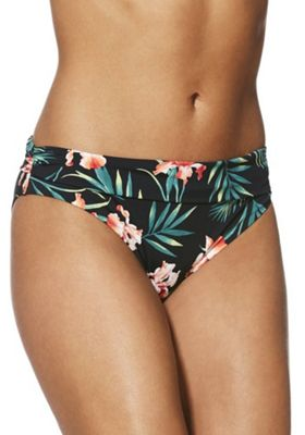 F&F Shaping Swimwear Tropical Fold-Over Bikini Briefs Multi 14