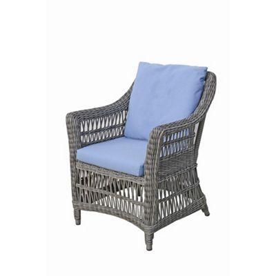 Bridgman Paddock Dining Armchair in Beige / Sky Blue