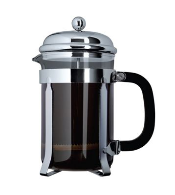 Cafe Ole 1000ml 8-Cup Classic Coffee Maker Glass Cafetiere Chrome Finish