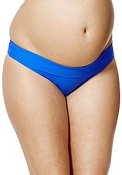 F&F Fold-Over Maternity Bikini Briefs - Cobalt