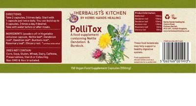 Herbs Hands Healing PolluTox 550mg Capsules 150 Capsules