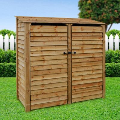 Hambleton wooden log store with doors - 6ft