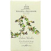 Woods of Windsor Cedar Woods Fine English Soap 250g