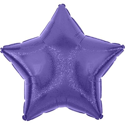 Purple Dazzler Star Balloon - 19 inch Foil