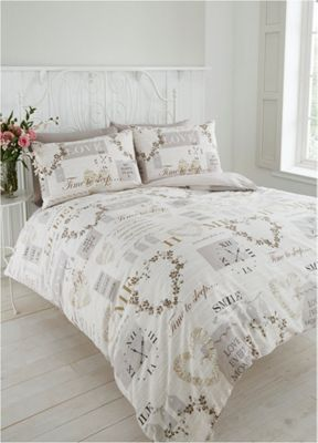 Pure duvet cover and pillowcase set - Natural - Single