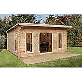 Forest Garden Mendip Log Cabin 5.0m x 4.0m Installed
