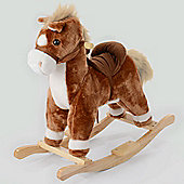 Junior Neighing Rocking Horse - Light Brown