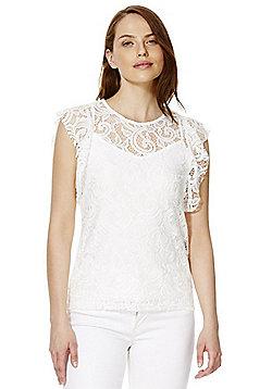 Vero Moda Lace Top - White