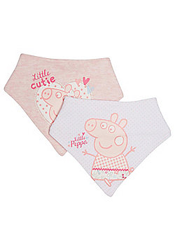 Peppa Pig 2 Pack of Dribble Bibs