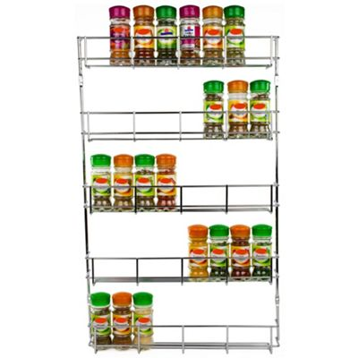 Andrew James Spice Rack - 5 Tiers for Jars & Small Bottles - Chrome
