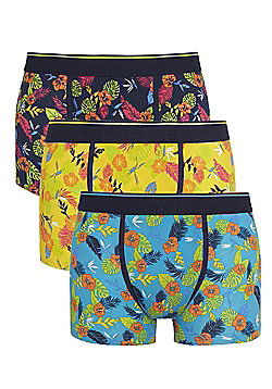 F&F 3 Pack of Tropical Print Hipsters - Multi