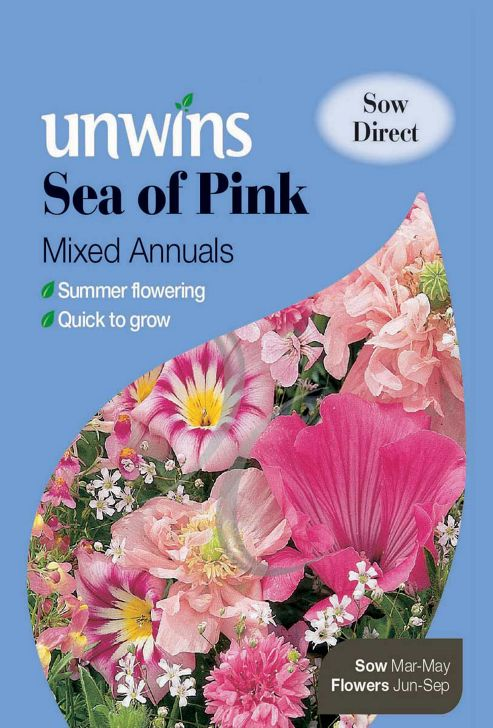 Unwins Sea Of Pink Mixed Annuals
