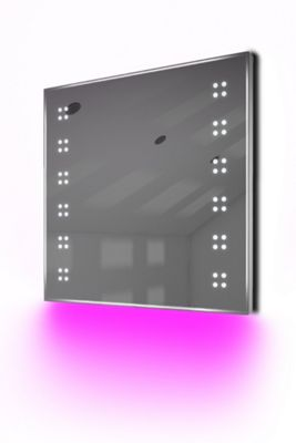 Ambient Ultra-Slim LED Bathroom Mirror With Demister Pad & Sensor K37P