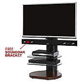 Origin II S4 Walnut Cantilever TV Stand - With Free Soundbar Bracket