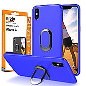 Orzly Slim Stand Case Cover for iPhone X - Blue