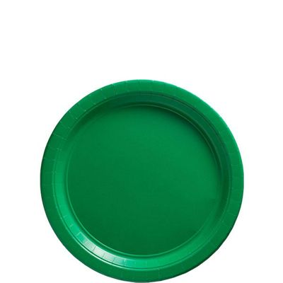 Green Paper Dessert Plates 17cm, Pack of 20