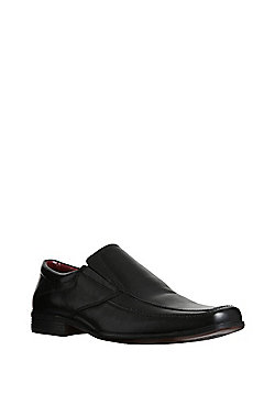 F&F Leather Apron Front Shoes - Black