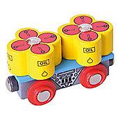 Bigjigs Rail Oil Barrels Wagon