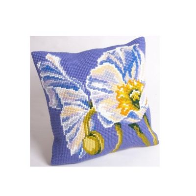 Collection D Art Snow Poppy Cushion Kit