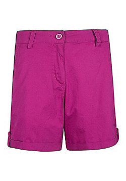 Mountain Warehouse Womens Casual Shorts 100% Cotton with Breathable and Pockets - Red