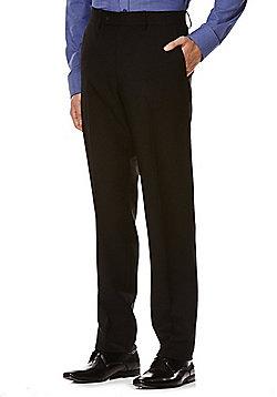 F&F Regular Fit Trousers - Black