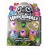 Spinmaster Hatchimals CollEGGtibles 4 Pack + Bonus FOREST Purple Deer Season 2