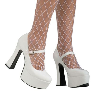 Rubies - White Patent Platform - Adult UK Size 7