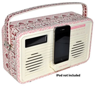 View Quest Emma Bridgewater Retro DAB+/FM Radio with Dock (30-pin, Sampler)