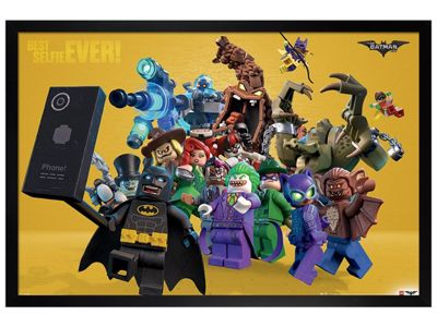 Lego Batman Black Wooden Framed Best Selfie Ever Poster 61x91.5cm